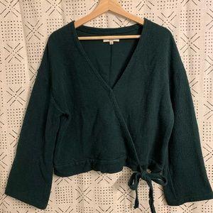 Madewell Texture & Thread Wrap Tie Waist Sweater
